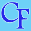 © CFoley - Logo with blue initials on light blue background